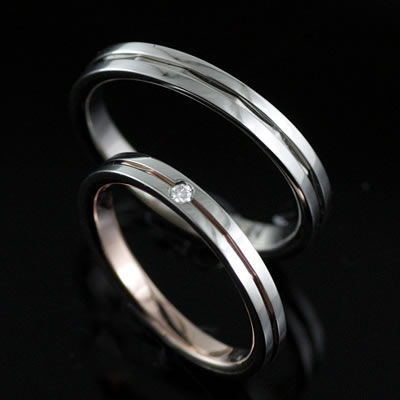 プラチナ Pt ( Brand Jewelry TwinsCupid ) プラチナ900ダイヤモンドペアリング(ラブアロー)
