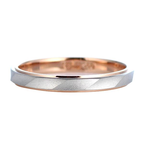 Brand Jewelry Oferta プラチナ950 K18ピンクゴールドペアリング 結婚指輪 末広 スーパーSALE【今だけ代引手数料無料】