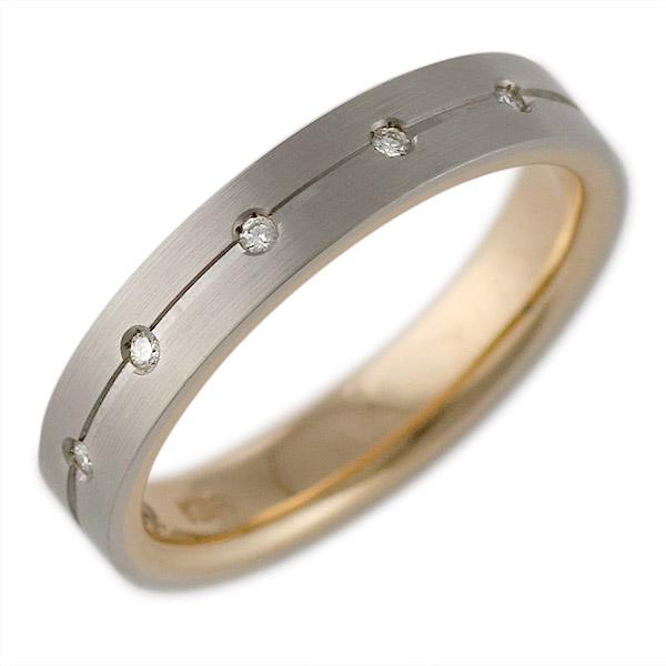 K18ホワイトゴールド・K18ピンクゴールド 結婚指輪・マリッジリング・ペアリング 末広 スーパーSALE【今だけ代引手数料無料】