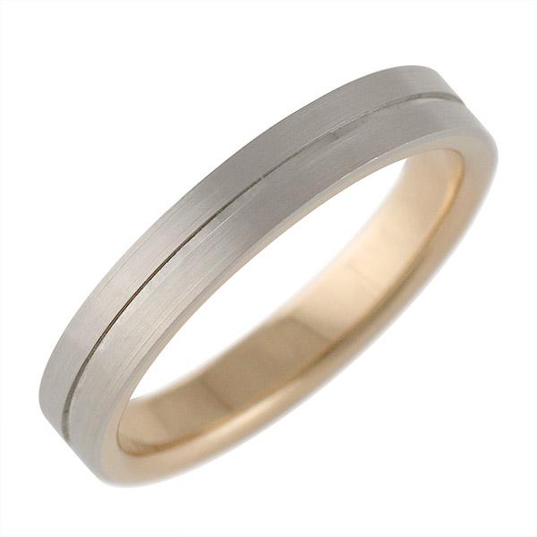 K18ホワイトゴールド・K18ピンクゴールド 結婚指輪・マリッジリング・ペアリング(特注サイズ)