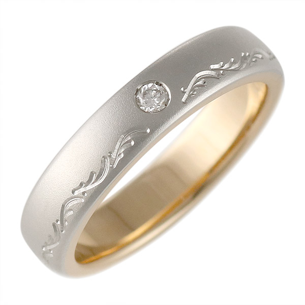 K18ピンクゴールド・プラチナ900 結婚指輪・マリッジリング・ペアリング(特注サイズ)
