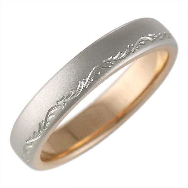 K18ピンクゴールド・プラチナ900 結婚指輪・マリッジリング・ペアリング