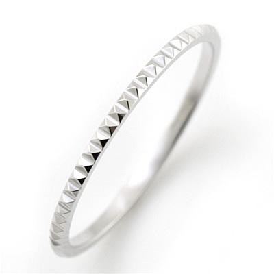 重ね着け ペアリング 指輪 ホワイトゴールドリング