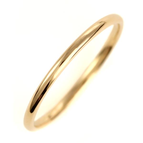 結婚指輪 マリッジリング K18イエローゴールド 18金 甲丸 レディース