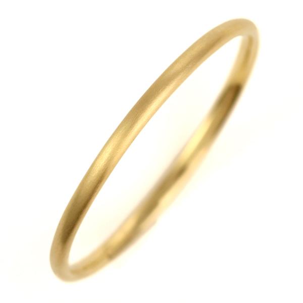結婚指輪 マリッジリング K18イエローゴールド 18金 つや消し マット仕上げ 甲丸 レディース