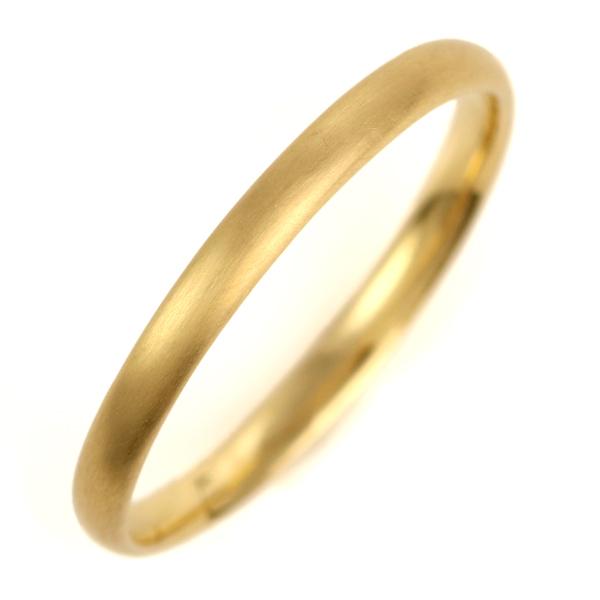 結婚指輪 マリッジリング K18イエローゴールド 18金 つや消し マット仕上げ 甲丸 レディース 末広 スーパーSALE