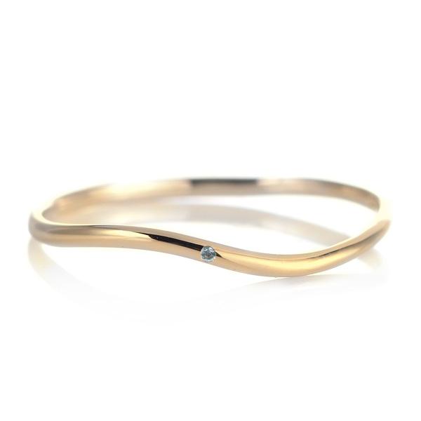 結婚指輪 マリッジリング 18金 ゴールド 甲丸 ウエーブ 天然石 ブルートパーズ 末広 スーパーSALE【今だけ代引手数料無料】