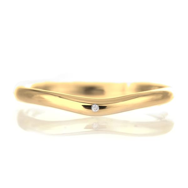 結婚指輪 マリッジリング 18金 ゴールド 甲丸 V字 天然石 ダイヤモンド 末広 スーパーSALE【今だけ代引手数料無料】