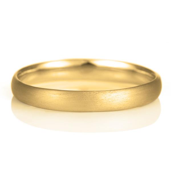 結婚指輪 マリッジリング 18金 ゴールド つや消し マット 甲丸 レディース