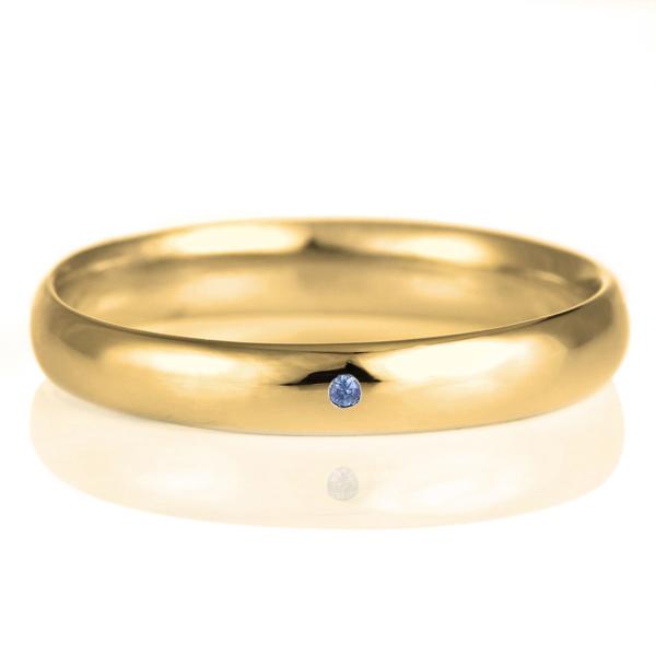 結婚指輪 マリッジリング 18金 ゴールド 甲丸 天然石 サファイア 末広 スーパーSALE【今だけ代引手数料無料】