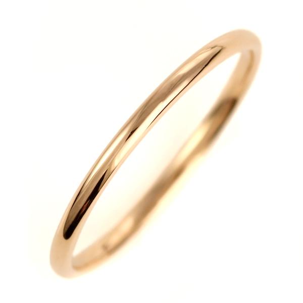 結婚指輪 マリッジリング K18ピンクゴールド 18金 甲丸 レディース