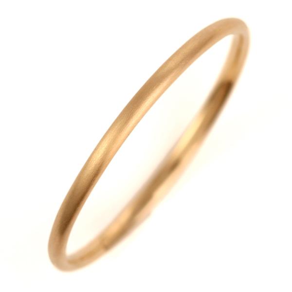 結婚指輪 マリッジリング K18ピンクゴールド 18金 つや消し マット仕上げ 甲丸 レディース 末広 スーパーSALE【今だけ代引手数料無料】