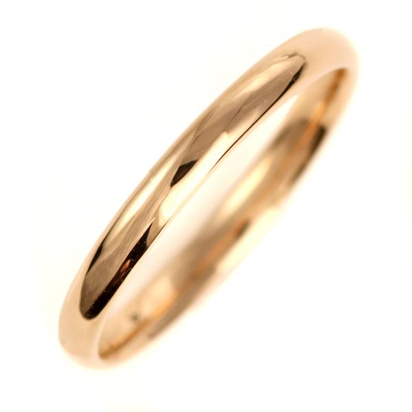 結婚指輪 マリッジリング K18ピンクゴールド 18金 甲丸 レディース 末広 スーパーSALE