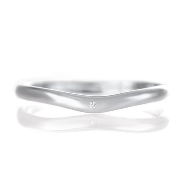 結婚指輪 マリッジリング プラチナ つや消し マット 甲丸 V字 天然石 ダイヤモンド 末広 スーパーSALE【今だけ代引手数料無料】