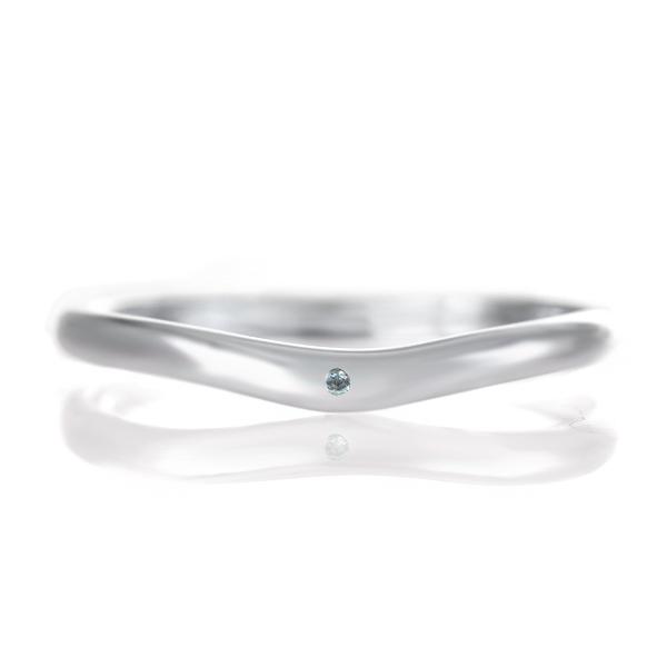 結婚指輪 マリッジリング プラチナ つや消し マット 甲丸 V字 天然石 ブルートパーズ 末広 スーパーSALE【今だけ代引手数料無料】