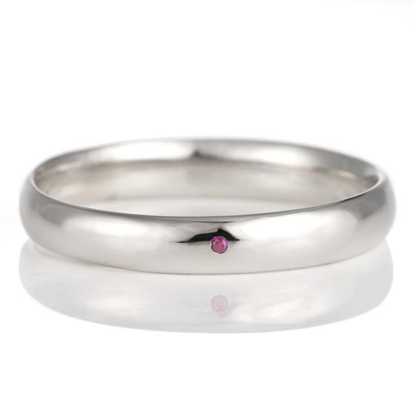 結婚指輪 マリッジリング プラチナ 甲丸 天然石 ルビー 末広 スーパーSALE【今だけ代引手数料無料】