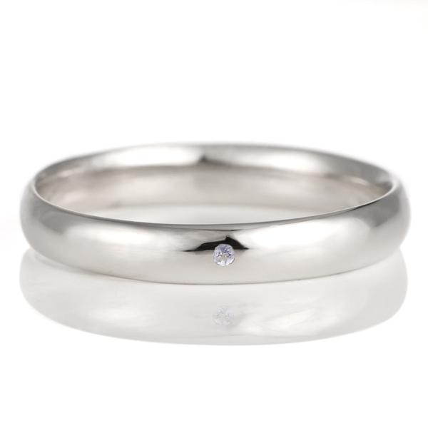 結婚指輪 マリッジリング プラチナ 甲丸 天然石 タンザナイト 末広 スーパーSALE【今だけ代引手数料無料】