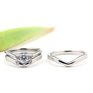 ( Brand Jewelry fresco ) プラチナ ダイヤモンドリング(婚約指輪・結婚指輪)エンゲージ マリッジ セット 3本 【DEAL】 末広 スーパーSALE