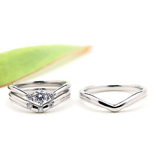 ( Brand Jewelry fresco ) プラチナ ダイヤモンドリング(婚約指輪・結婚指輪)エンゲージ マリッジ セット 3本【DEAL】 末広 スーパーSALE