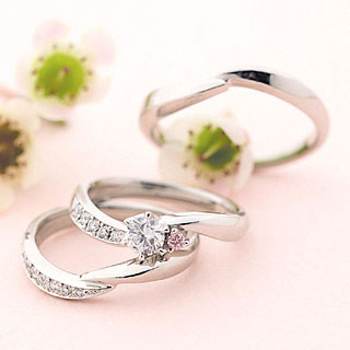 婚約指輪 ( Brand Jewelry fresco ) プラチナ ダイヤモンドリング(婚約指輪・結婚指輪)エンゲージ マリッジ セット 3本 末広 スーパーSALE【今だけ代引手数料無料】