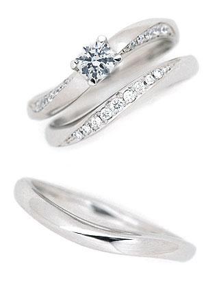 Brand セット ( マリッジ 3本 Jewelry fresco プラチナ スーパーSALE【今だけ代引手数料無料】 ダイヤモンドリング(婚約指輪・結婚指輪)エンゲージ ) 末広
