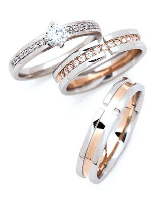 ( Brand Jewelry fresco 3本 ) プラチナ プラチナ ダイヤモンドリング(婚約指輪 Jewelry・結婚指輪)エンゲージ マリッジ セット 3本, Shimadaya HOME&LIFE:d700da14 --- apps.fesystemap.dominiotemporario.com