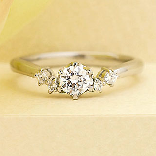 ( Brand Jewelry fresco ) プラチナ ダイヤモンドリング(婚約指輪・結婚指輪) 末広 スーパーSALE