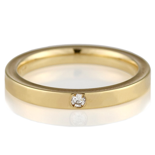 ( Italian Brand Jewelry ウノアエレ ) K18イエローゴールド ダイヤモンドペアリング