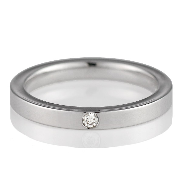( Italian Brand Jewelry ウノアエレ ) K18ホワイトゴールド ダイヤモンドペアリング