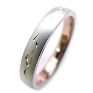 ( Brand Jewelry Angerosa ) Pt・K18PGペアリング
