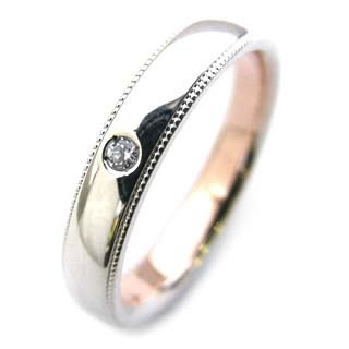 ペアリング ( Brand Jewelry Angerosa ) Pt・K18PGダイヤモンド