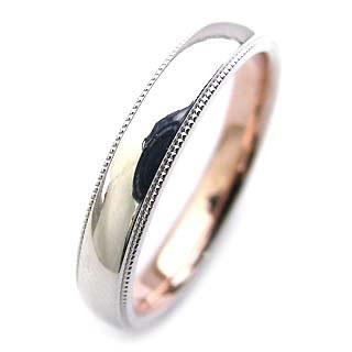 ( Brand Jewelry Angerosa ) Pt・K18PGペアリング・リング