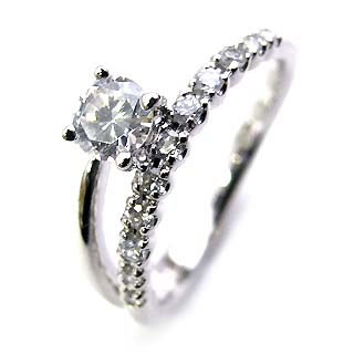 【今だけエントリーで全品5倍!5/18まで限定!】( Brand Jewelry Angerosa ) Pt ダイヤモンドリング(婚約指輪・エンゲージリング)【DEAL】