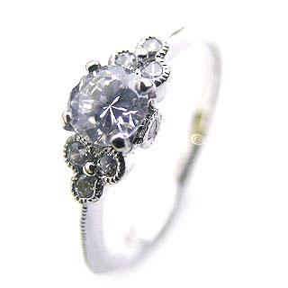 ( Brand Jewelry Angerosa ) Pt ダイヤモンドリング(婚約指輪・エンゲージリング)【DEAL】