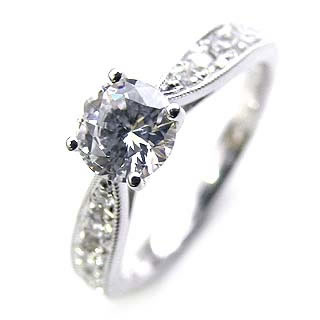 ( Brand Jewelry Angerosa ) Pt ダイヤモンドリング(婚約指輪・エンゲージリング)