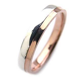 ペアリング ( Brand Jewelry Angerosa ) Pt・K18PG(特注サイズ)