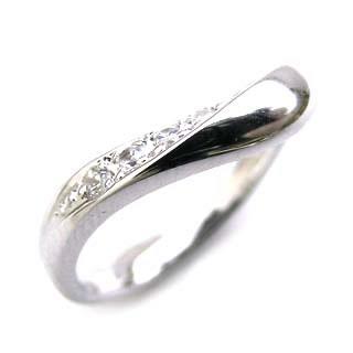 ペアリング ( Brand Jewelry Angerosa ) Ptダイヤモンド(特注サイズ)