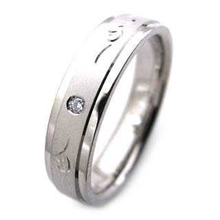 ( Brand Jewelry Angerosa ) K18WGダイヤモンドペアリング(特注サイズ)
