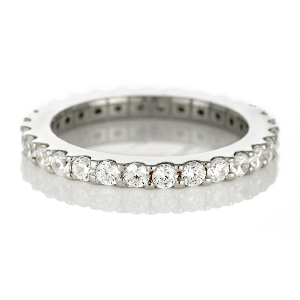 プラチナ リング ( Brand Jewelry me. ) シルバー925・プラチナコーティング フルエタニティリング