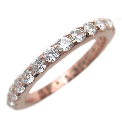 ( Brand Jewelry me. ) シルバー925・ピンクゴールドコーティング フルエタニティリング