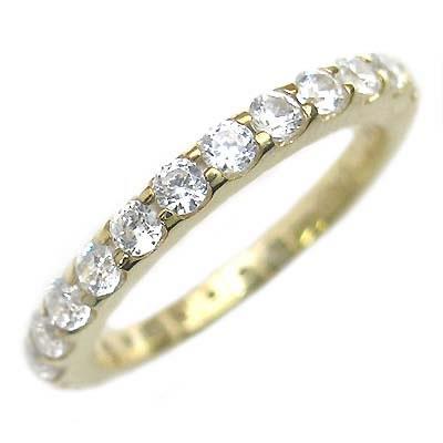 ( Brand Jewelry me. ) シルバー925・ゴールドコーティング フルエタニティリング