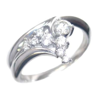 K18ホワイトゴールド ダイヤモンドリング 【DEAL】