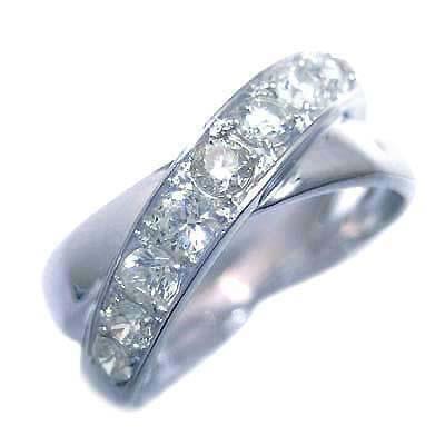 ダイヤモンド ダイヤ ( 4月誕生石 ) K18ホワイトゴールドダイヤモンドリング 末広 スーパーSALE【今だけ代引手数料無料】