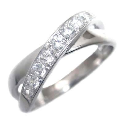 ( 4月誕生石 ) K18ホワイトゴールドダイヤモンドリング 【DEAL】