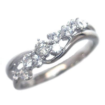 ダイヤモンド 4月誕生石 K18ホワイトゴールド ダイヤモンド リング【DEAL】