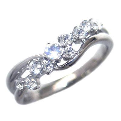 新しいブランド ダイヤモンド 6月誕生石 ダイヤモンド K18ホワイトゴールド ムーンストーン ダイヤモンド スーパーSALE リング 末広 スーパーSALE:Jewelry リング SUEHIRO, INFINITY Co.,Ltd.:5047ad01 --- daftarfoodizz.id