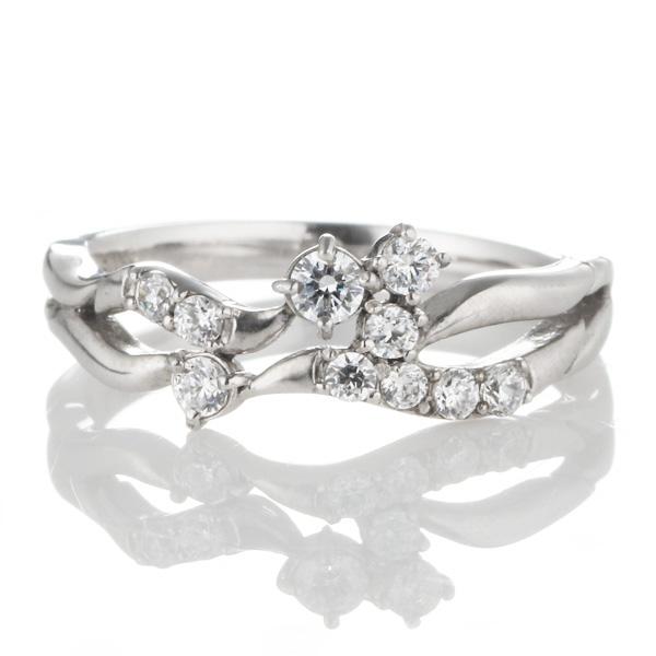 ダイヤモンド 4月誕生石 K18ホワイトゴールド ダイヤモンド リング 【DEAL】