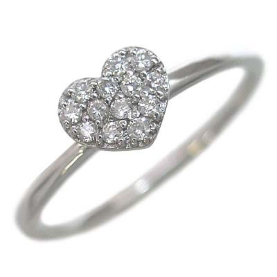 ( Brand Jewelry me. ) K10ホワイトゴールド ダイヤモンドリング