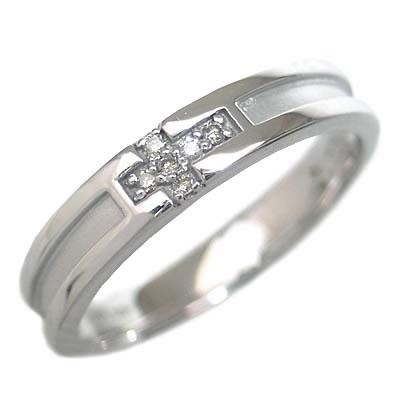 ( Brand Jewelry me. ) ホワイトゴールド ダイヤモンドペアリング 末広 スーパーSALE