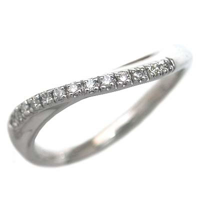 ( Brand Jewelry me. ) ホワイトゴールド ダイヤモンドペアリング 末広 スーパーSALE【今だけ代引手数料無料】